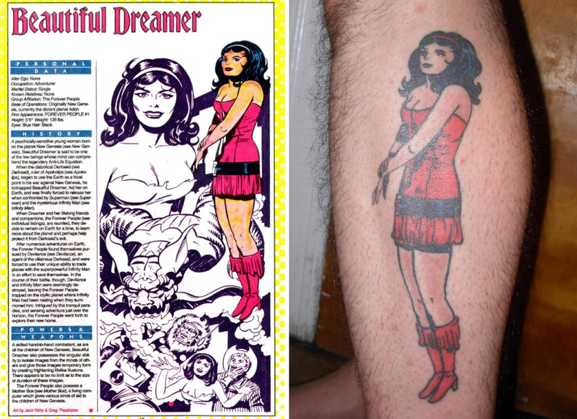 Beautiful Dreamer tattoo