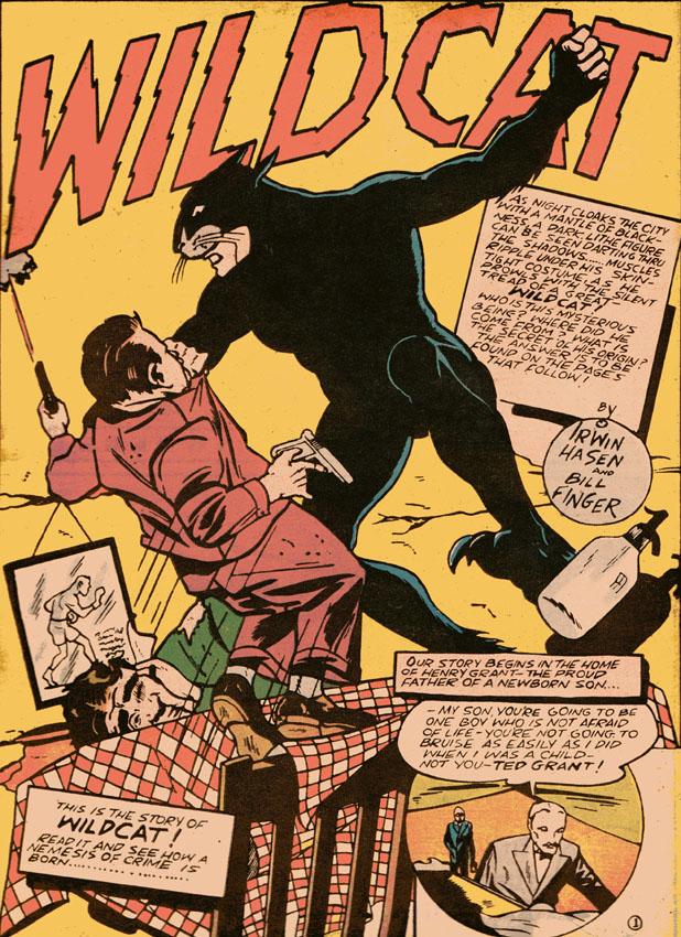 Wildcat from Sensation Comics 1
